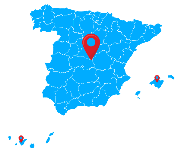 Map of Spain, Acquafuture cover whole spain